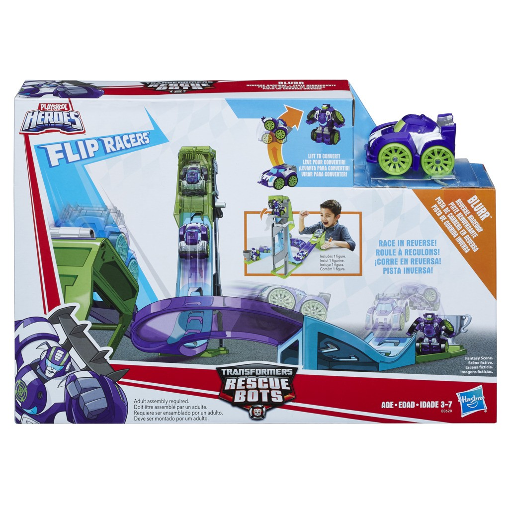 Transformers Rescue Bots Pista de Corrida Inversa E0620 - Hasbro