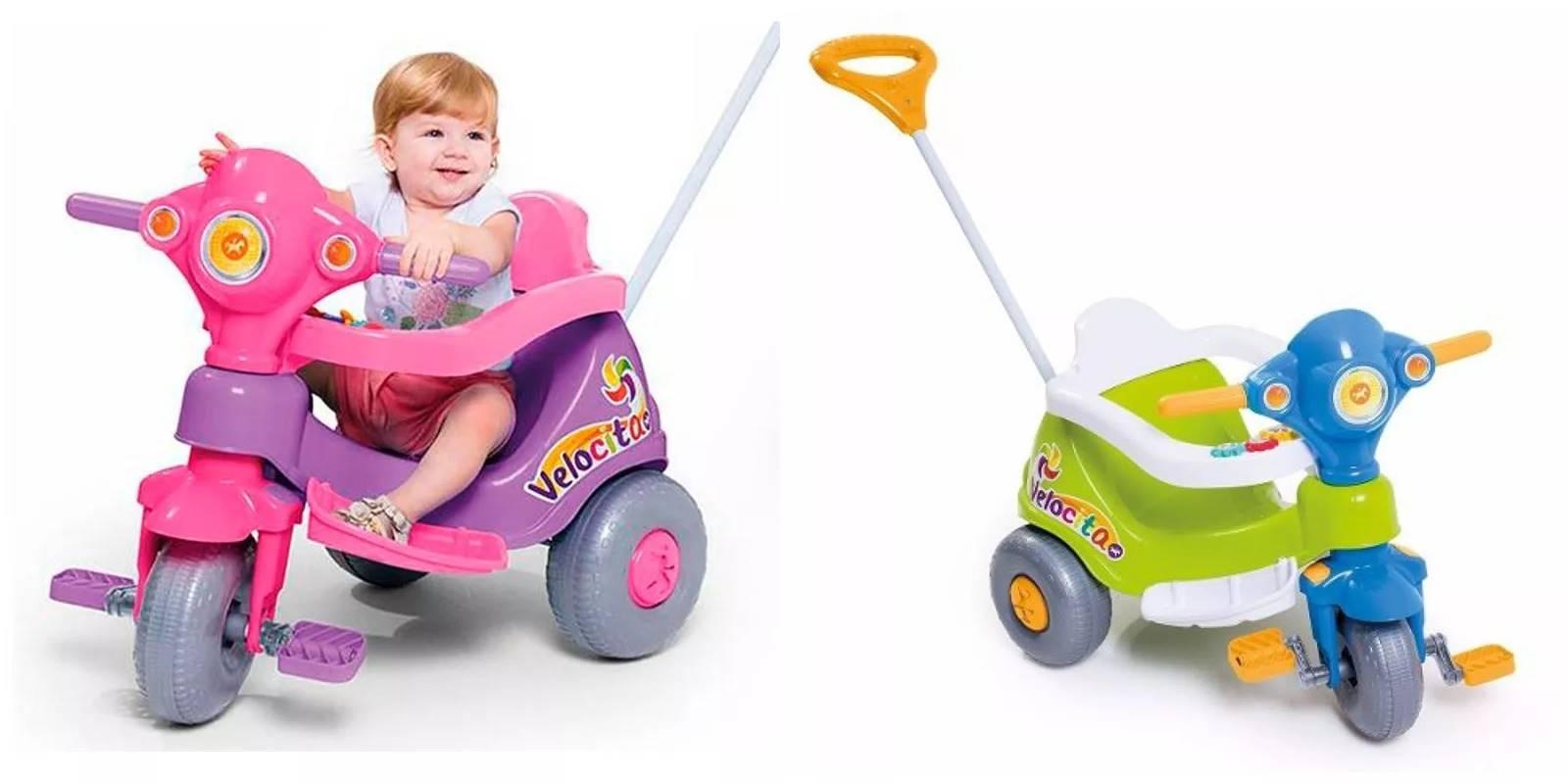 Triciclo Carrinho De Empurrar Escolha o Seu - Calesita