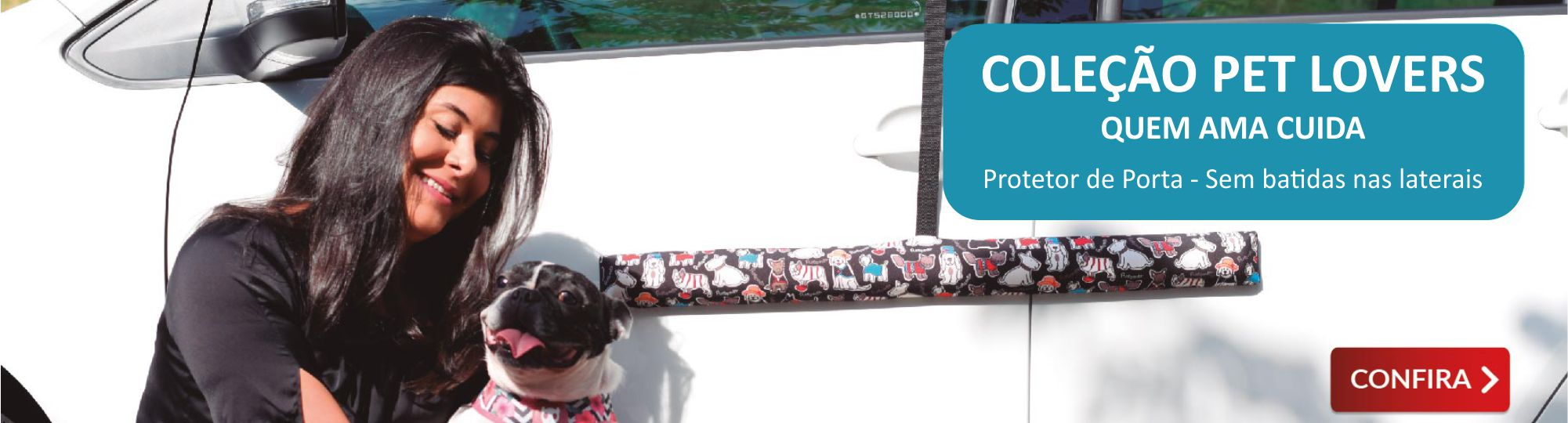 Protetor de Porta de Carro Proteporta - Coleção Pet