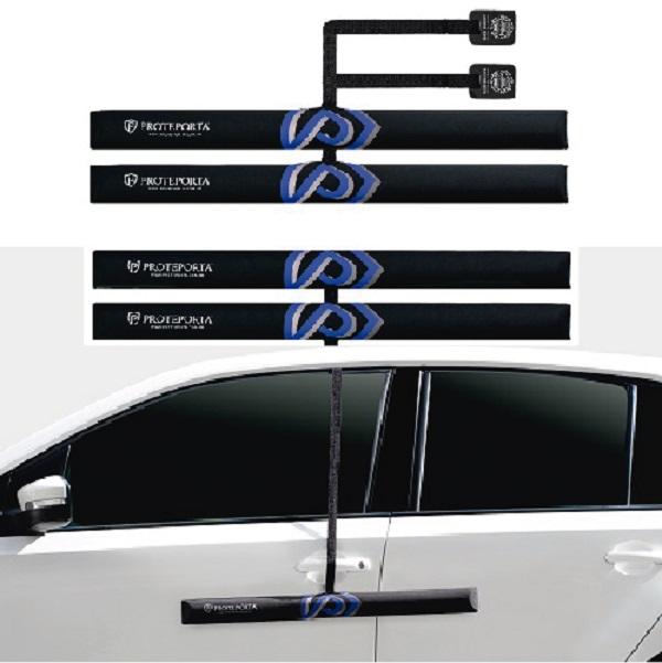 Kit Protetor de Porta de Carro - Preto - 4 peças