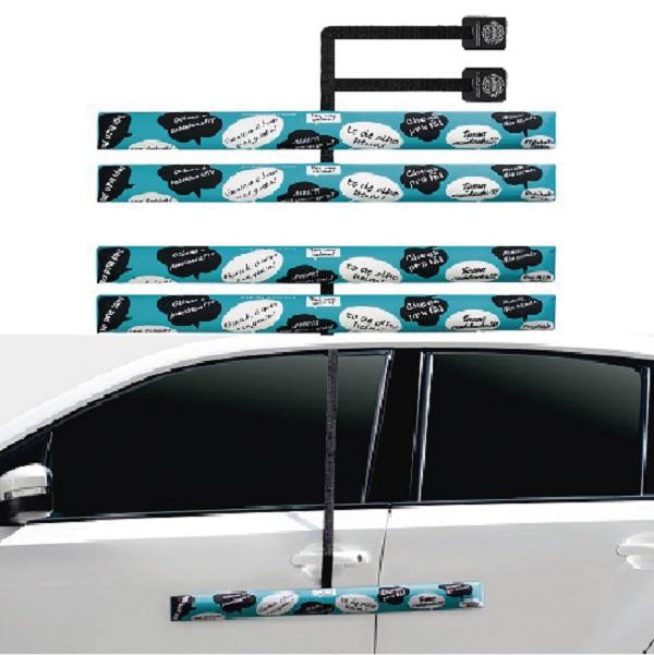 Kit Protetor de Porta de Carro - Turquesa - 4 peças