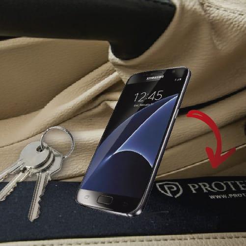 Kit Protetor de Porta Vermelho + Protetor de Console