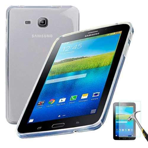 098242e32ddbb Capa Silicone TPU Transparente Para Tablet Samsung Galaxy Tab3 7