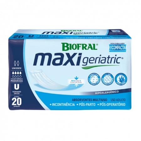 Absorvente Maxi Geriatric C/ 20 UNID Biofral