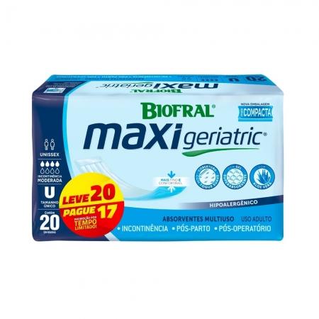 Absorvente Maxi Geriatric Leve 20 Pague 17 Biofral