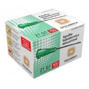 Agulha Hipodermica Descarpack 25X0,8MM Caixa C/100 UNID