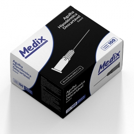Agulha Hipodermica Medix 30X0,7MM Caixa C/100 UNID