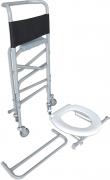 Cadeira de Rodas Banho Aluminio D40 PLUS Dellamed