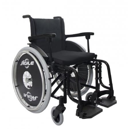 Cadeira de Rodas Jaguaribe Agile 48 Preta