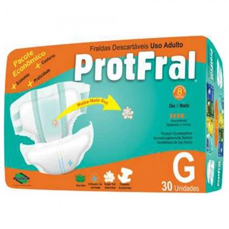 Fralda Protfral Pacote Economico G C/ 30 UND