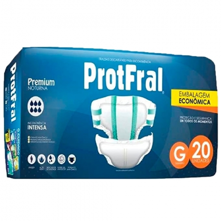 Fralda Protfral Premium G C/ 20 UND