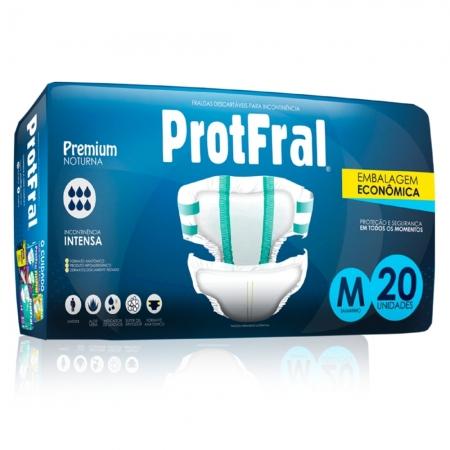 Fralda Protfral Premium M C/ 20 UND