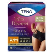 Fralda Tena PANTS Discreet BLACK P/M 8 UNID
