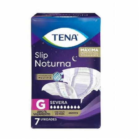 Fralda Tena SLIP Noturna G C/ 7 UNID