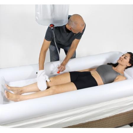 Lavatório Inflável Banho NO Leito para o Corpo Longevitech