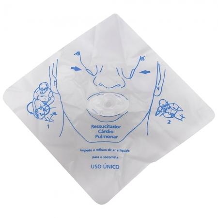 Mascara de RCP Resgate com VALV ANTI Refluxo Descartavel