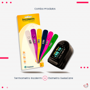 Termometro Digital Incoterm + Oximetro Swiss Care
