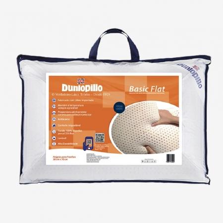 Travesseiro de Latex Dunlopillo Basic FLAT