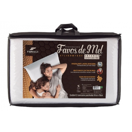 Travesseiro Favos de MEL Silicomfort Intense Fibrasca