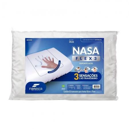 Travesseiro Nasa FLEX 3 Suporte ALTO Fibrasca