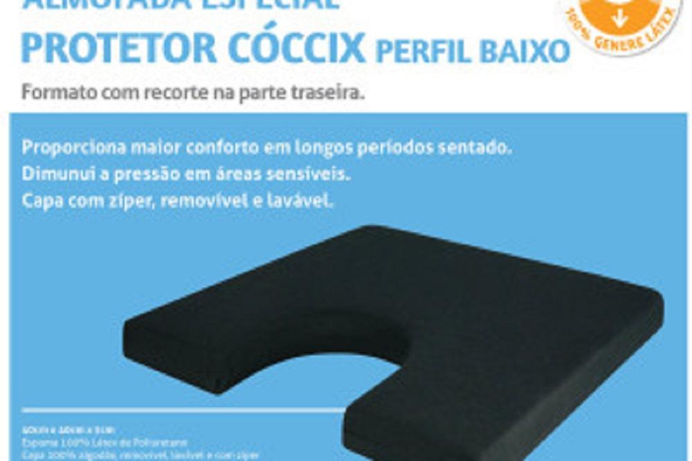 Almofada Protetor de Coccix Perfil Baixo Preta Perfetto