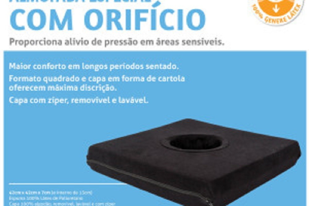 Almofada Quadrada C/ Orificio Latex Perfetto