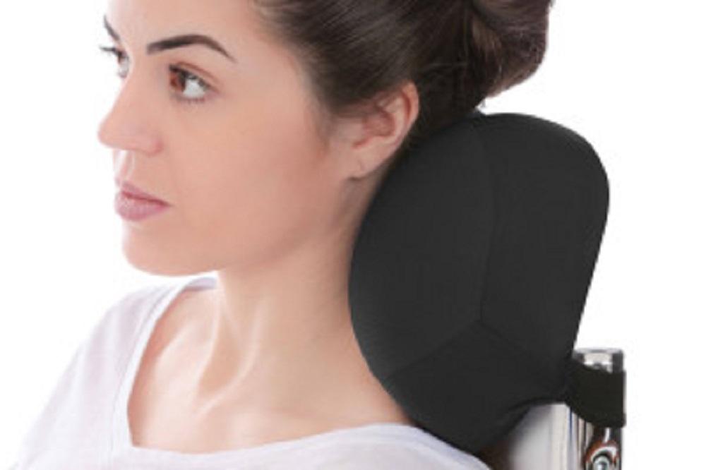 Almofada Suporte Cervical Pillow CAR Preta Visco Perfetto