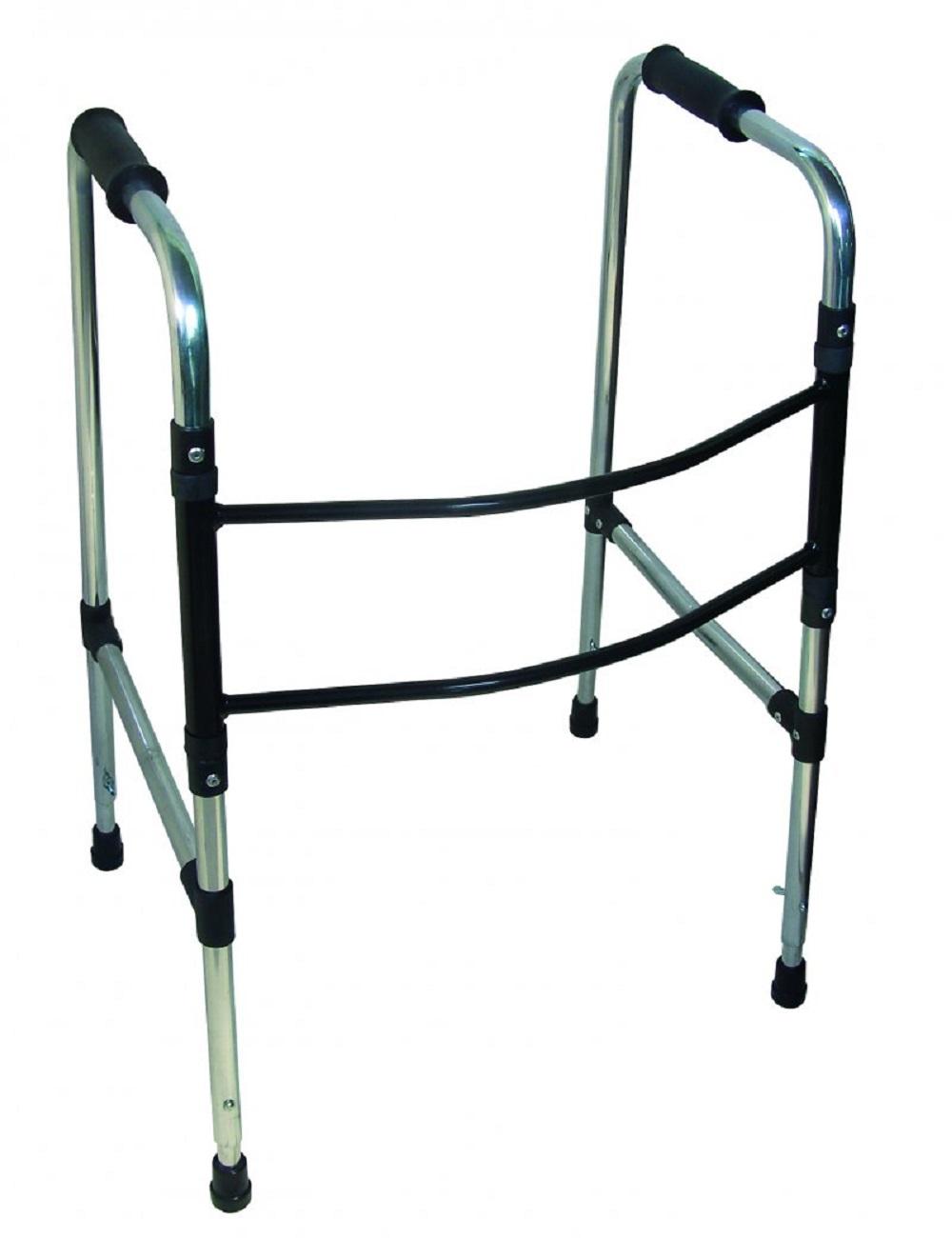 Andador Articulado e Dobravel Aluminio Prata Dilepe DB009