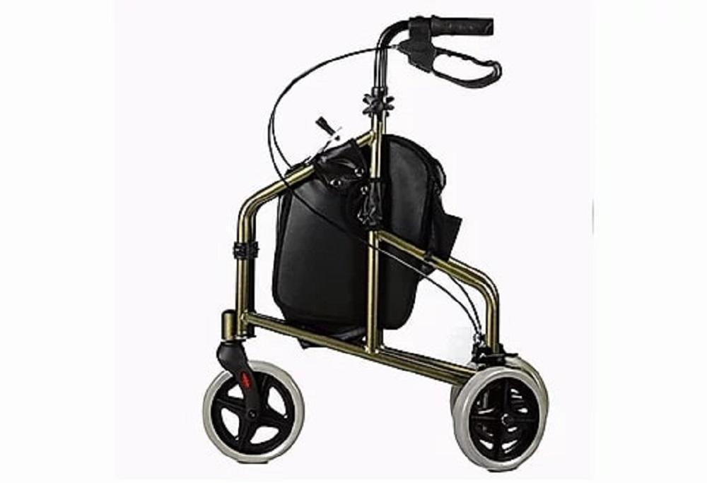 Andador de Aluminio com 3 Rodas e Cesto Bronze Mobil