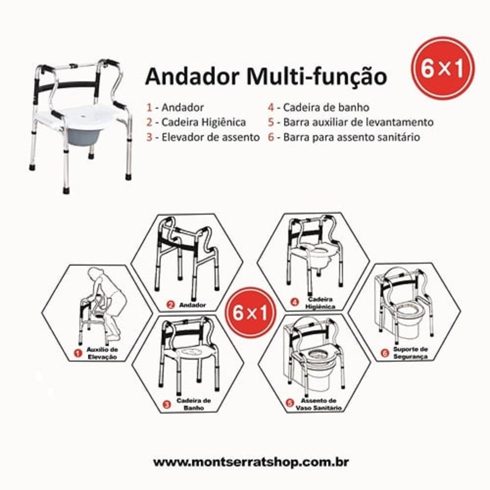 Andador Multi Funcao Aluminio Montserrat