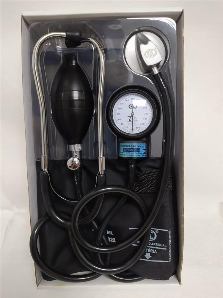 Aparelho de Pressao BIC ADULT NYLON Velcro com Estetoscopio STD