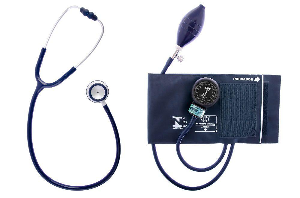 Aparelho de Pressao BIC Adulto NYLON Velcro com Estetoscopio Duplo PLUS