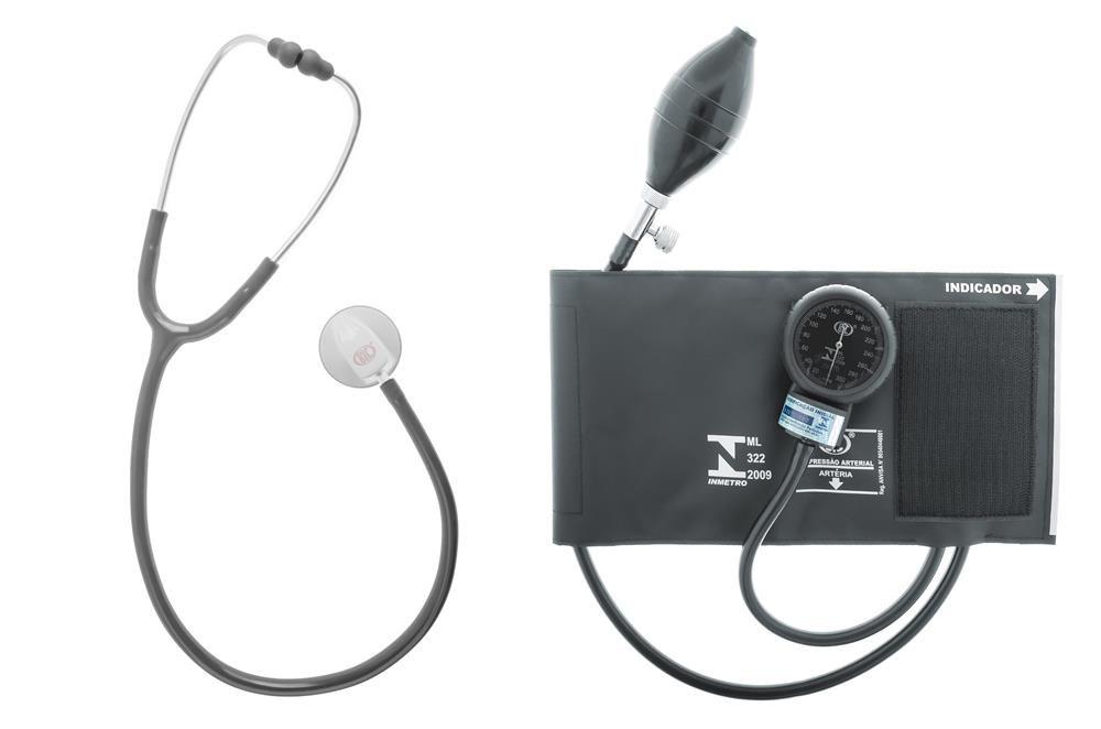 Aparelho de Pressao BIC Adulto NYLON Velcro com Estetoscopio STD