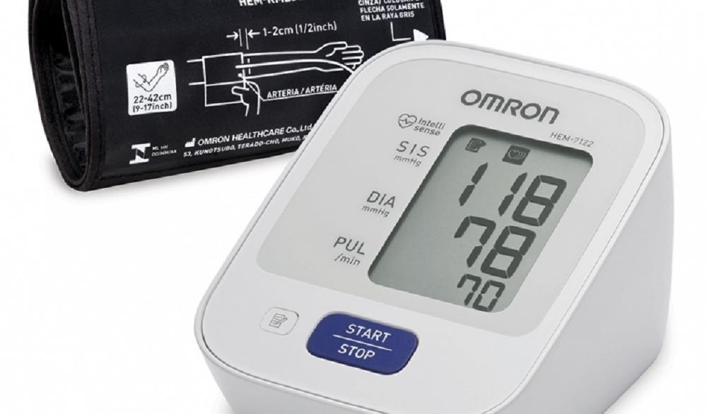 Aparelho de Pressao OMRON Digital de Braco Control + HEM-7122