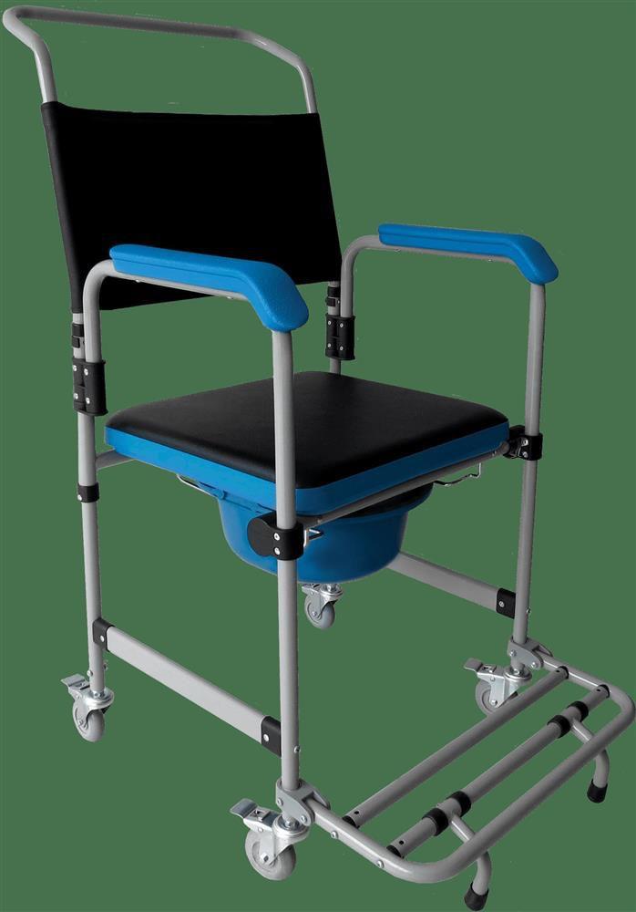 Cadeira de Rodas Banho AÇO D50 Dellamed