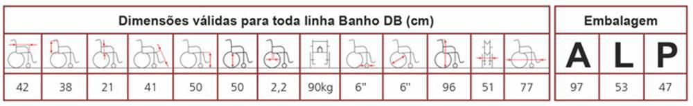 Cadeira de Rodas Banho DB Jaguaribe