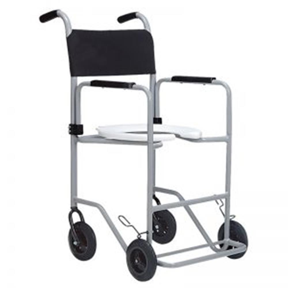 Cadeira de Rodas Banho POP Aluminio Jaguaribe