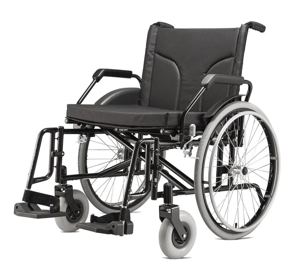 Cadeira de Rodas BIG Preta Jaguaribe