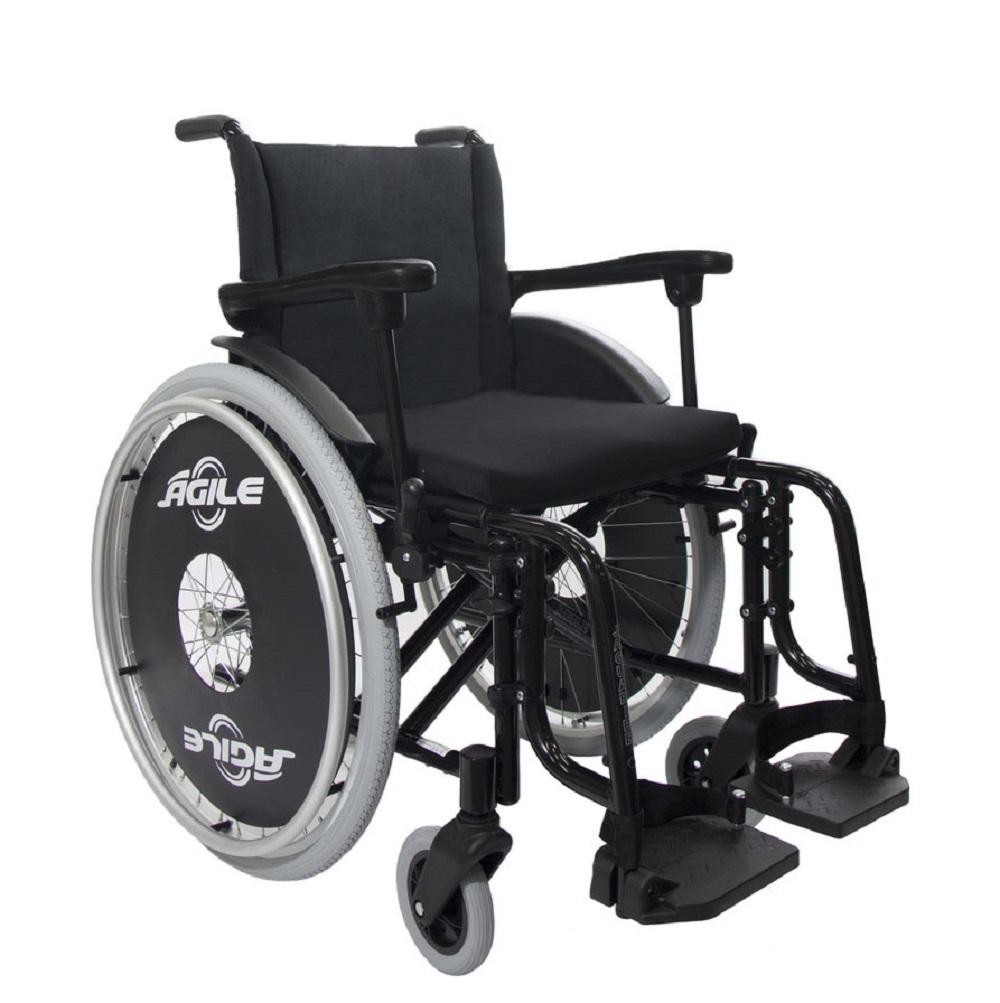 Cadeira de Rodas Jaguaribe Agile 44 Preta