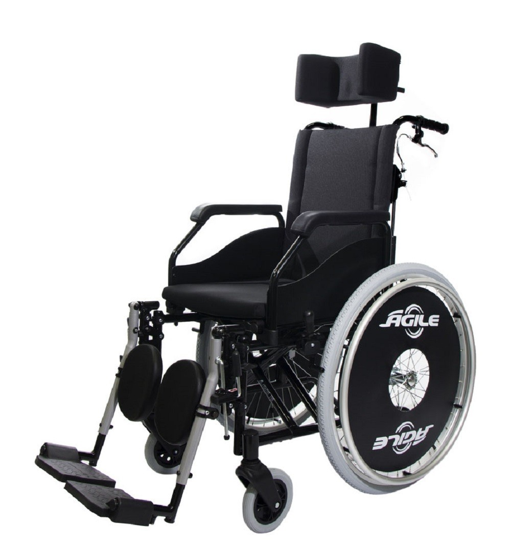Cadeira de Rodas Jaguaribe Agile Reclinavel 44 Preta