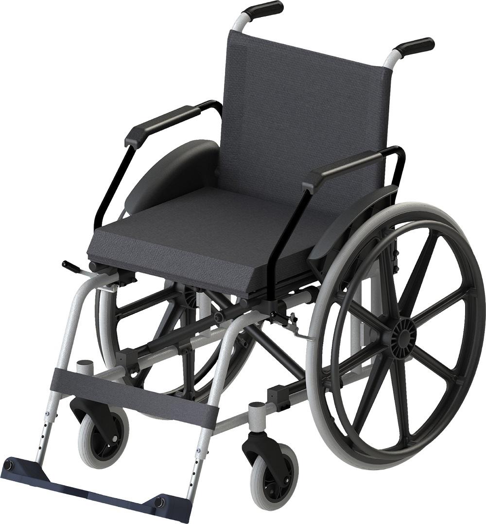 Cadeira de Rodas Jaguaribe Taipu J3 44 Prata