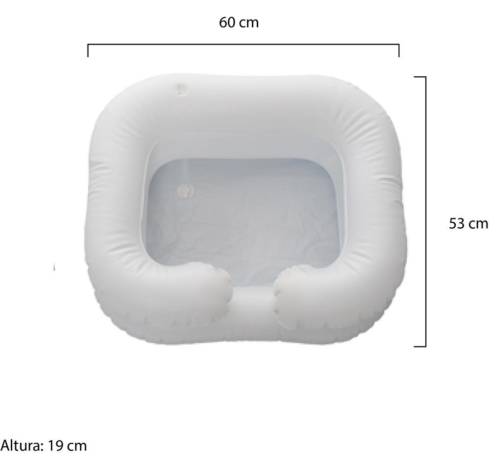 Lavatório Inflável para Cabeça de Acamados Longevitech