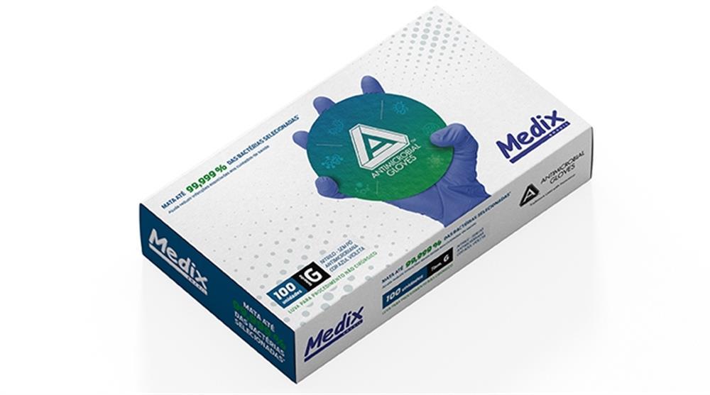 Luva Nitrilica Medix de Procedimento Violeta S/ Talco P