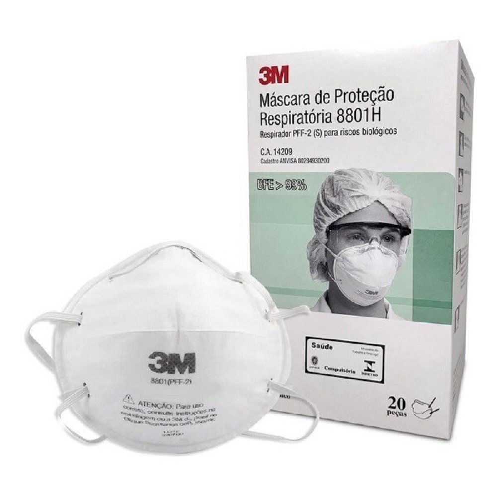 Mascara Descartavel Concha 3M PFF-2 8801H KIT C 5 Unidades
