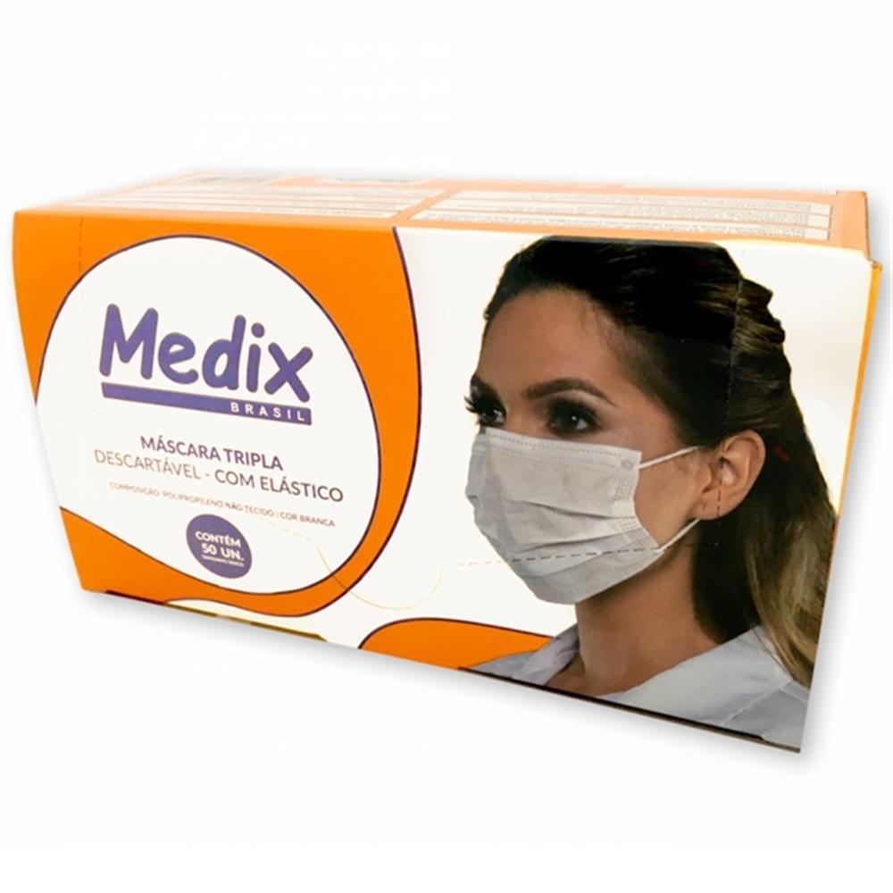 Mascara Descartavel Medix C/ Elastico C/50