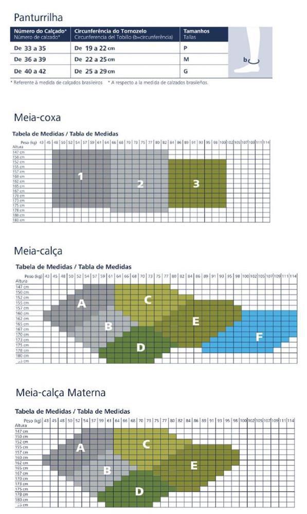 Meia Calca Sigvaris Audace 120A 15-20 MMHG S/ Ponteira