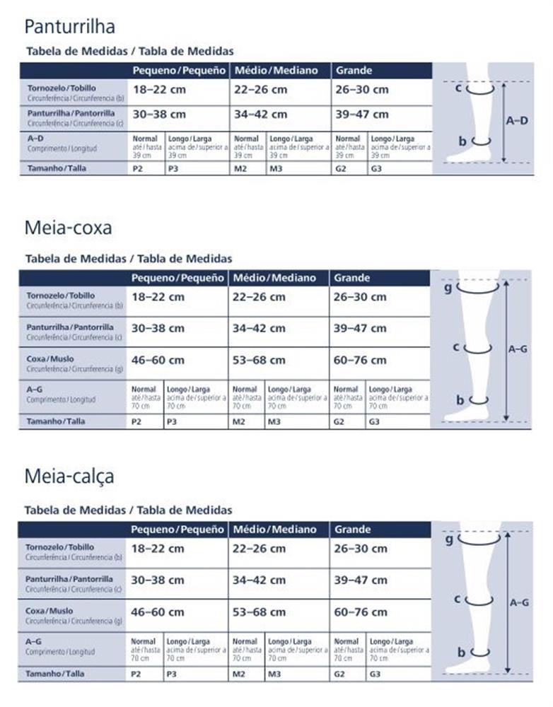 Meia Coxa Sigvaris EVER Sheer 782A 20-30 S/ Ponteira