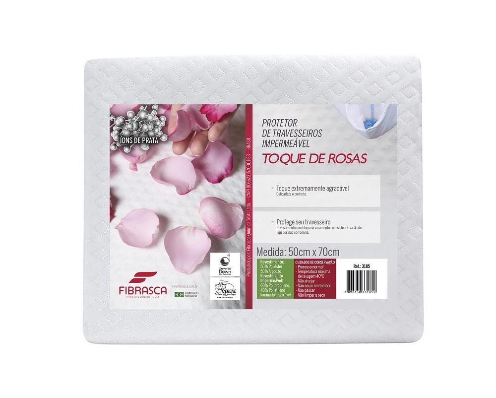 Protetor de Travesseiro Toque de Rosas Fibrasca