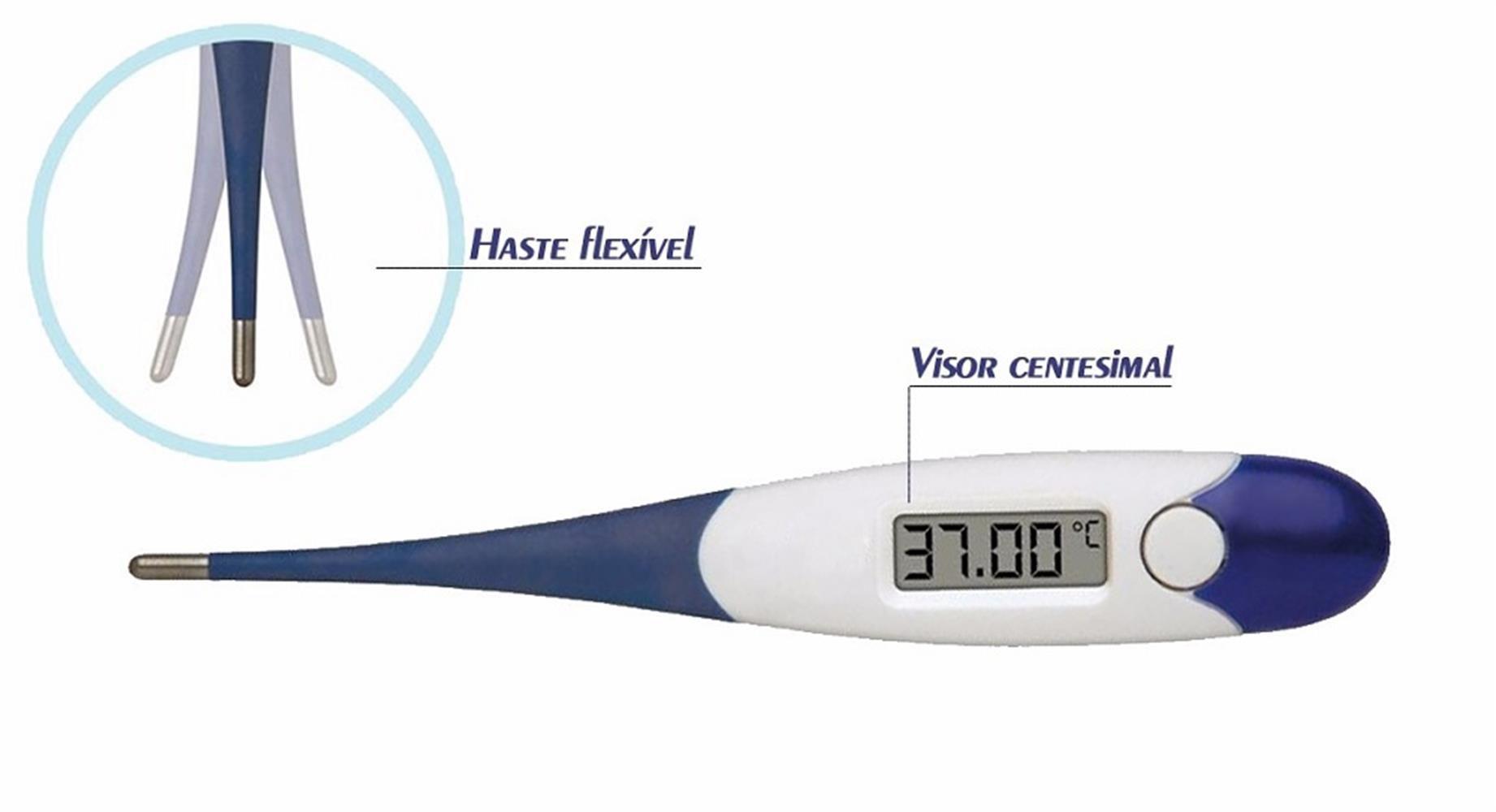 Termometro Clinico Digital Haste Flexivel Flexterm Incoterm
