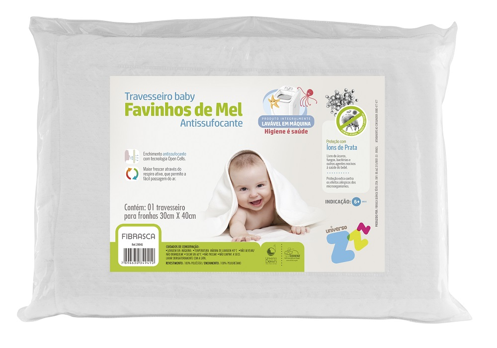 Travesseiro BABY Favinhos de MEL Fibrasca